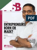 ASB Magazine Entrepreneur Edition