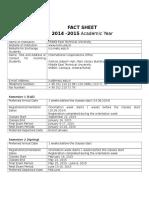 2014-2015- METU Fact Sheet