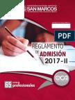 Unmsm Reglamento de Admision 2017 II