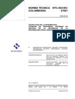 Norma NTC-ISO-IEC 27001 - Tecnicas de seguridad SGSI - Colombia.pdf