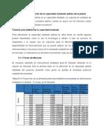 PARTE I, Determinación de La Capacidad Instalada Óptima de La Planta