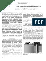 Investigation of Fiber Orientation in Viscous Fluid
