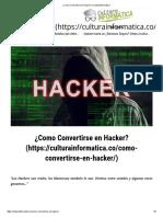 Como Convertirse en Hacker