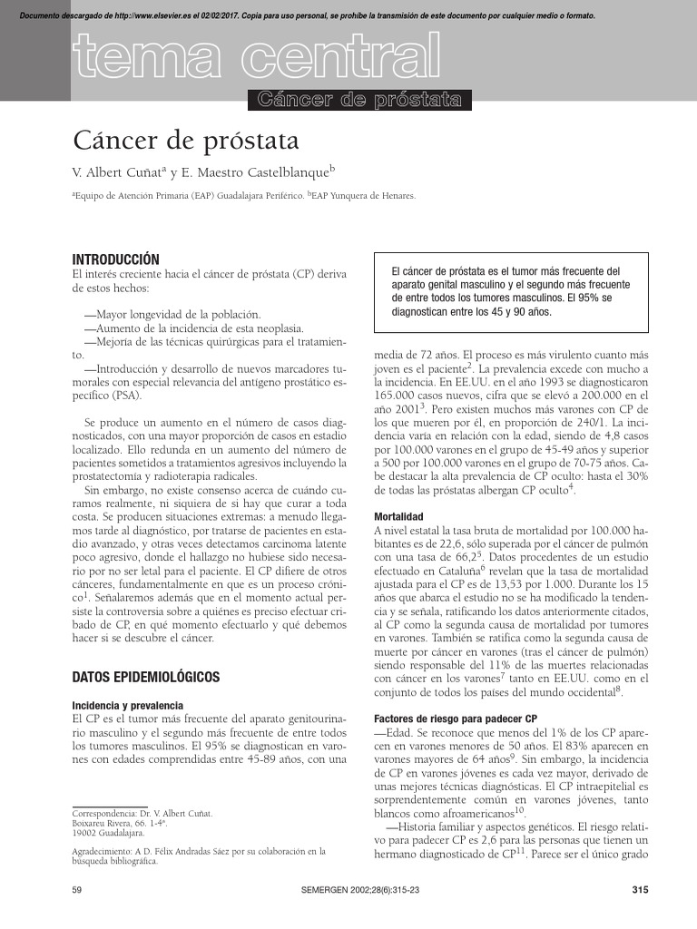 doctor myers cáncer de próstata