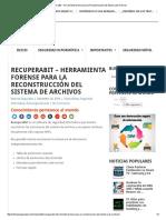 Recuperabit – Herramienta Forense Para La Reconstrucción Del Sistema de Archivos
