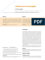 Acromegalia Manifest. Dermatologicas
