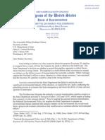 Henry Waxman letter to Clinton