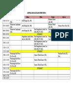 Jadwal Mata Kuliah Semester 6