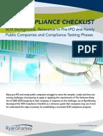 Sox Compliance Checklist