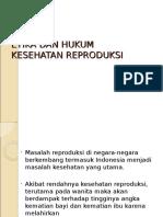 Etika Dan Hukum Kesehatan Reproduksi