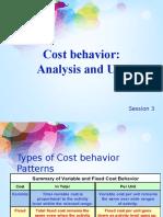 3. Cost Behavior