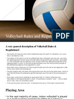Volleyball Rules and Regulation