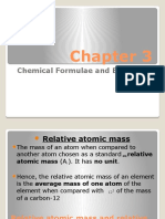 Chapter 3 Chemical Equations and Formulaes