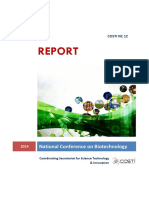 REPORT National Conference on Biotechnology
