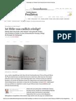 Neuauflage Von Hitlerbuch_ Mein Kampf Als Kommentierte Fassung