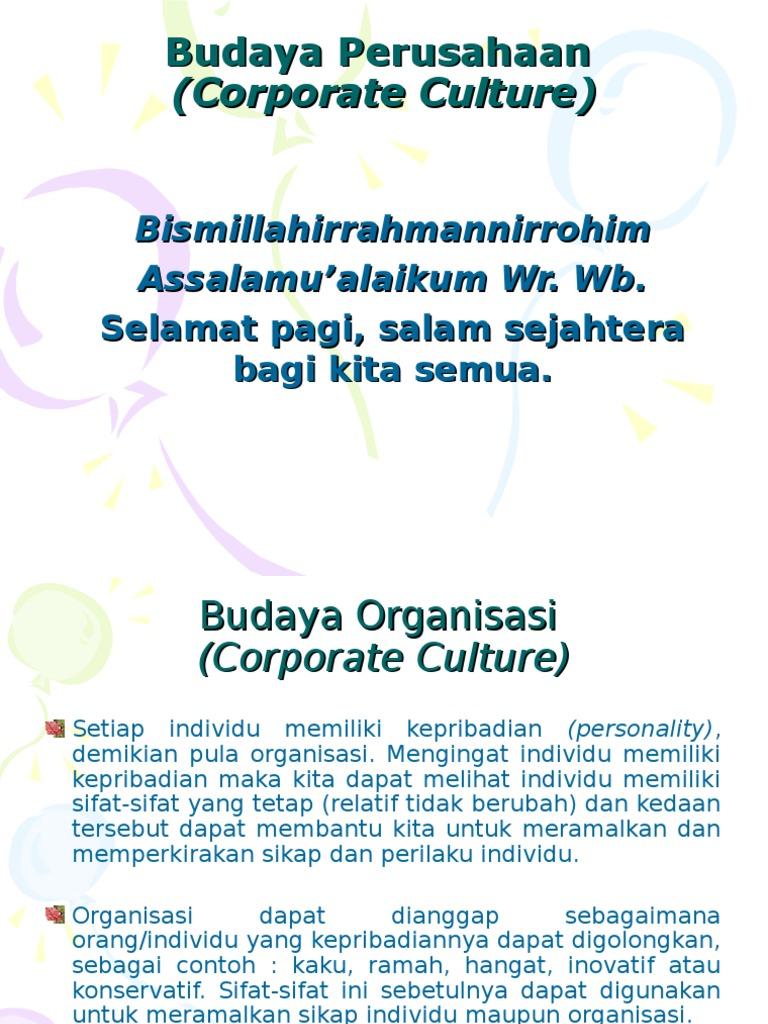 Budaya Organisasi Ppt Download