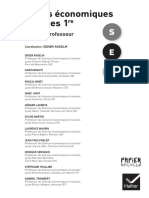 Livre Du Professeur Sciences Economiques Et Sociales