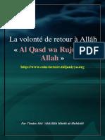 La Volonte de Retour a Allah