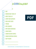 Quick Clean Checklist