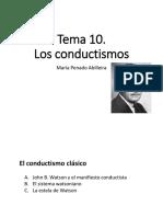 Tema 10 - Los Conductismos