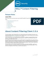 ContentFilteringClient 3.0.6 ReleaseNotes