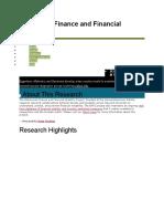 Finance Research Topics