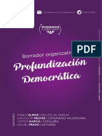 Profundizacion Democratica - Documento Organizativo 2017
