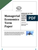 Demand in Domestic Aviation Industry of India by Akshata Shirodkar(Epgp-02-002)