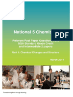 National 5 Past Paper Questions Chemical Changes and Structure