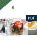 Icon Event Catering Menu Portfolio