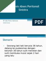 Abses Peritonsil Sinistra dan Penatalaksanaannya.pptx