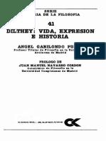 Gabilondo Pujol Angel - Dilthey - Vida Expresion E Historia