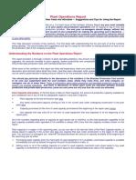 COR Help Document PlantOperationsReport