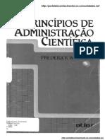 Frederick Winslow Taylor - Princípios de Administração Científica