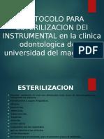Protocolo Para Esterilizacion Del Instrumental