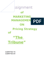 Pricing Strategy of Tribune