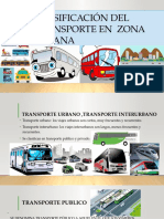 Clasificación Del Transporte en Zona Urbana
