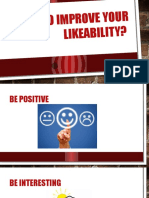 How to Improve Your Likeability