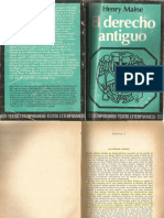Derecho Antiguo (Codificaciones)- Henry Maine