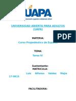Luis Alfonso Valdez Mejía Prop. Español Tarea 4