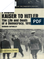 From Kaiser to Hitler; The Life and Death of a Democracy, 1919-1933
