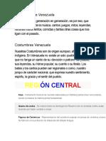 Tradiciones de Venezuela