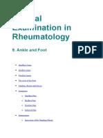 Clinical Examination in Rheumatology