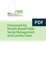 Asia Pacific Cop 2011 Framework for RBPSM and Country Cases