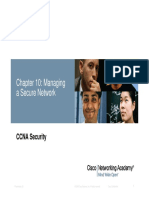 Chapitre 10- Managing a Secure Network