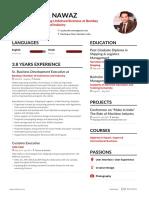 One Page Resume - Sayed Adil Nawaz - Bombay Chamber