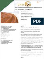 Receta Mexican Chocolate Bundt Cake - Petitchef