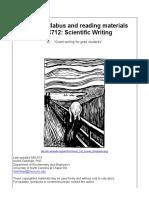 Scientific Writing Syllabus 2016 Accept