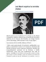 Cubano José Martí Explica La Envidia Chilena Al