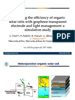 Improving the efficiency of organic solar cells with graphene transparent electrode and light management